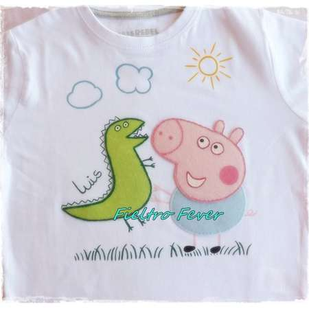 5002f5208 Peppa Pig, george pig T-shirt, george pig personalized, george pig, peppa  pig, handmade