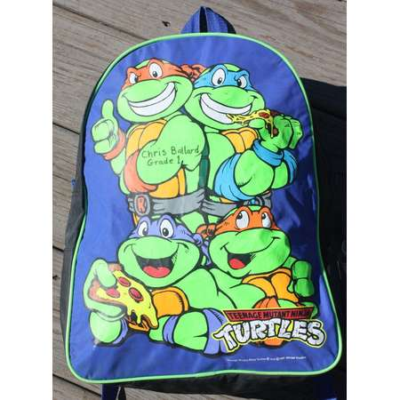 Vintage 1991 Mirage Teenage Mutant Ninja Turtles Backpack. thumb