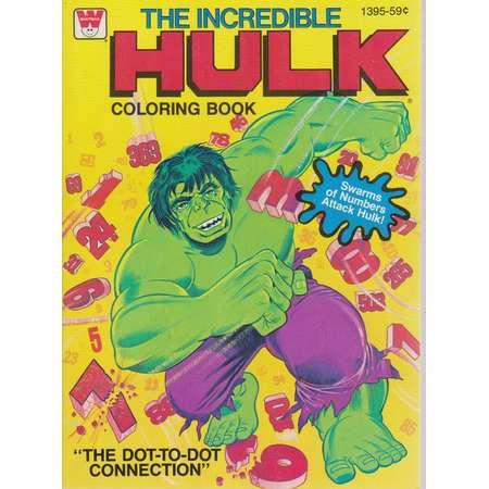 Vintage The Incredible Hulk coloring book - The dot-dot-connection thumb