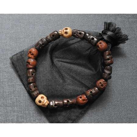 Dean Winchester's skull bracelet | Supernatural cosplay prop replica | convention costume jewelry | SPN fandom jewellery thumb