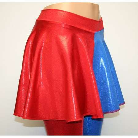 4f1587d2 Harley Quinn Suicide Squad Red and Blue Cosplay Skirt. Suicide Squad  Inspired Costume. All