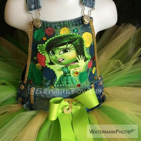 Custom Character Overalls.. Inside Out, Ariel, Little Mermaid, Shimmer & Shine, Trolls thumb