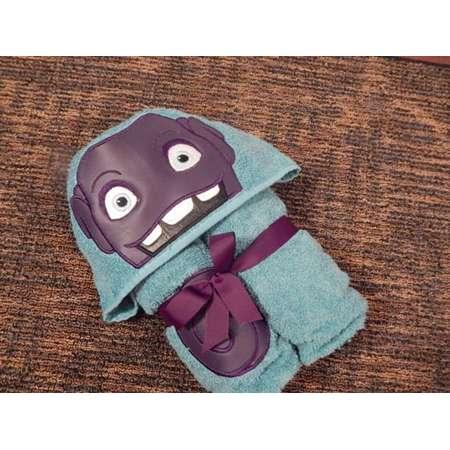 Personalized Purple Alien Hooded Towel thumb