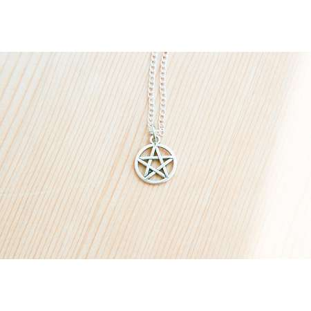 Supernatural pentagram charm pendant witch sign protecting star gift idea costume thumb