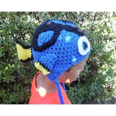 e16dbeb6d8f3f Finding Dory inspired crochet winter trapper hat