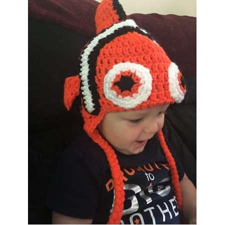 183da43b0016e Finding Nemo inspired Crochet Clown Fish trapper winter hat