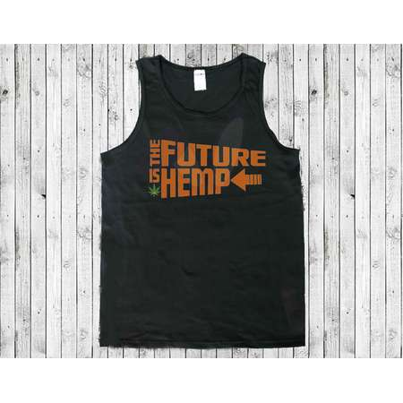 The Future is Hemp.  Back to the Future Themed Black Men's Tank Top T-shirt thumb