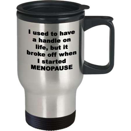 Menopause Gift | Funny Menopause Travel Mug | Menopause Humor | Getting Older Mug | Hot Flash | Peri-menopause | Gag Gift | Over the Hill thumb