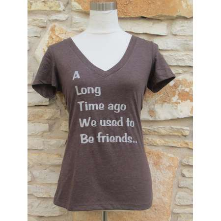 Veronica Mars Theme Women's Screenprinted Shirt (a long time ago we used to be friends) thumb