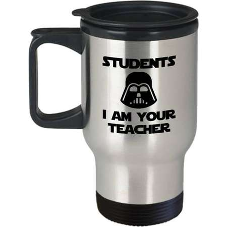 Students I Am Your Teacher Funny Travel Mug Gift for Teachers Yoda Star Wars Birthday Geek thumb