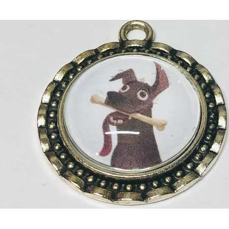 Dante Small Cameo Brooch Necklace or Keychain. Disney Pixar Coco Repurposed Storybook jewelry thumb