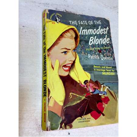 The Fate of The Immodest Blonde by Patrick Quentin 1947 Pulp Fiction,  Vintage Book thumb