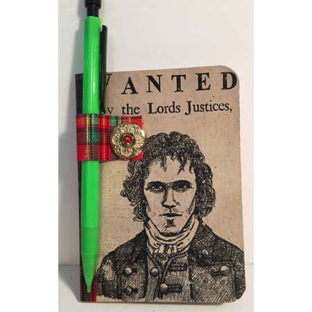 Outlander Wanted, Red Jamie Mini Composition Book and Pencil thumb