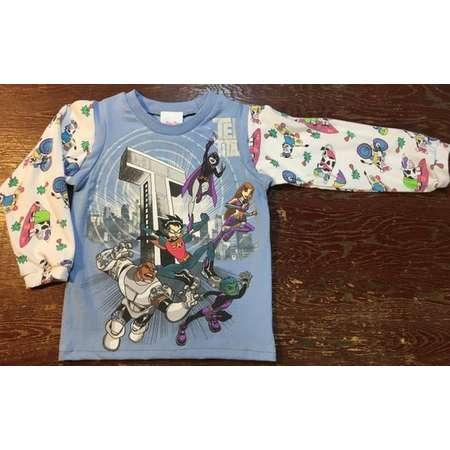 Teen Titans boy girl kids shirt blue long sleeve 3T thumb