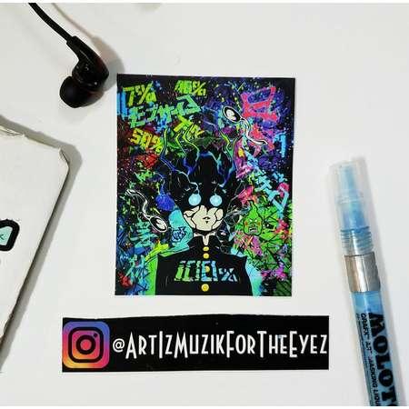 White T Poison [ Mob Psycho 100 / One Punch Man / Manga / Anime / Graffiti / Abstract ] [ Sticker ] thumb