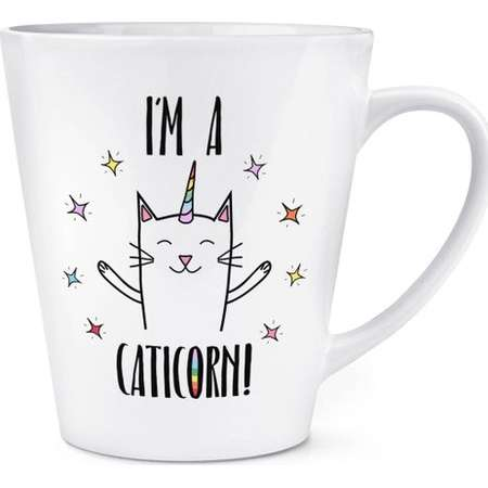 Coco The Rainbow Caticorn 12oz Latte Mug Cup thumb