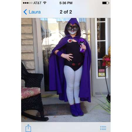 Child's cape  inspired by Raven from Teen Titans thumb