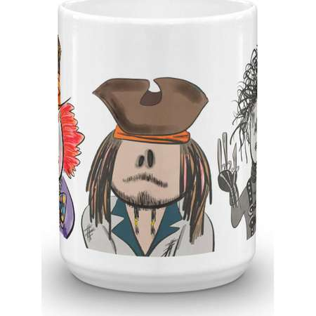 Johnny Depp (The Mad Hatter, Jack Sparrow and Edward Scissorhands) Character Coffee Mug thumb