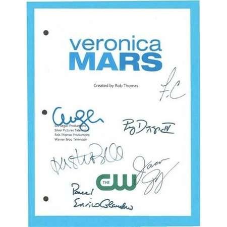 Veronica Mars Pilot Episode TV Script, Autographed: Kristin Bell, Enrico Colantoni, Amanda Seyfried, Jason Dohring, Fraces Capra thumb