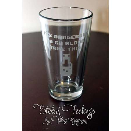 Zelda potion pint glass - it's dangerous to go alone pint glass - legend of Zelda pint glass - legend of Zelda potion thumb