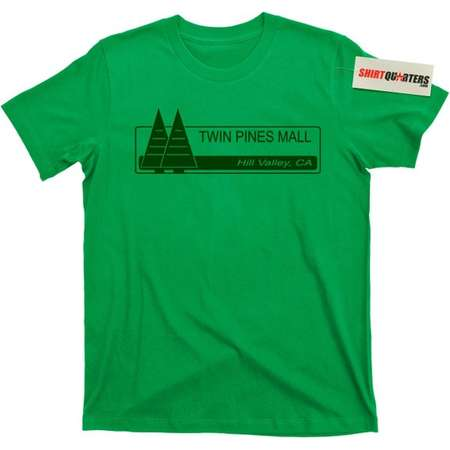 Twin Pines Mall Back to the Future 2 3 1.21 Gigawatts Flux Capacitor Michael J Fox Marty McFly DeLorean 88 mph movie DMC trilogy T Shirt tee thumb