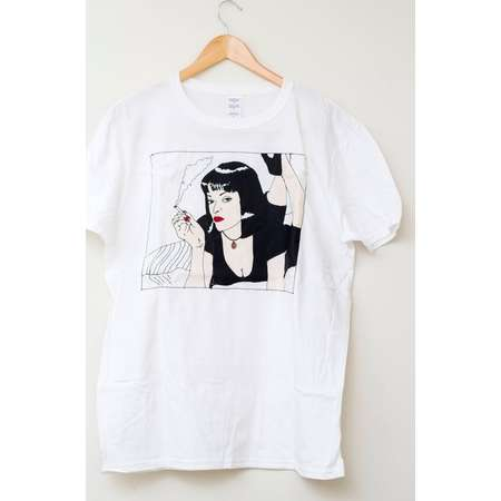 Mia Wallace t-shirt / Pulp Fiction / Illustrated Unisex Tee Shirt Men's Women's Gift Christmas Tshirt Clothing Birthday thumb
