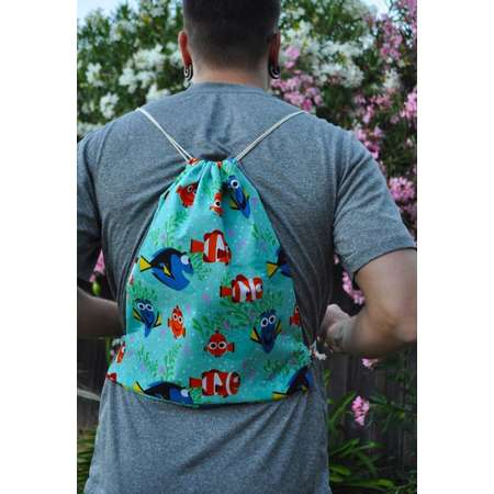 Finding Nemo Drawstring Backpack Women or Men – Finding Dory Rucksack Drawstring Bag for Travel Bag or Book Bag thumb