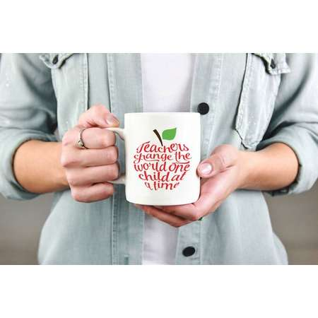 Flash sale! Teachers change the world coffee cup. Mug. Coffee. Teaching. Gift. Back to School. Personalize. First Day of School. Apple thumb