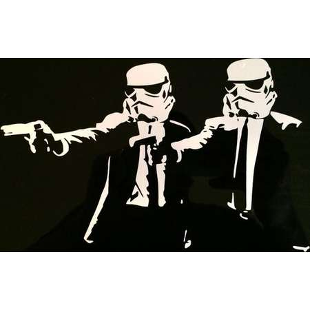 """Stormtroopers Pulp Fiction Decal 8""""x5"""" thumb"""