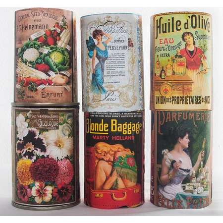 Vintage Ephemera - Can Labels - Upcycling Cans - Scrapbooking Design - Pulp Fiction - Antique Decor -  Old Seed Catalogue - French Labels thumb