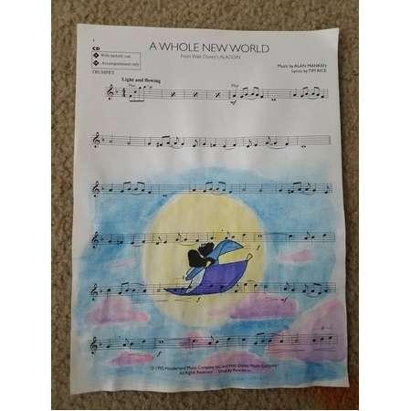 Sheet Music Painting ~ Aladdin thumb