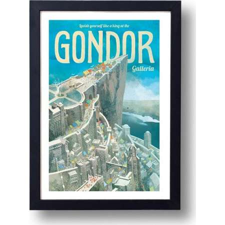 Lord of the Rings Poster Gondor Galleria Travel Poster, Lord of the Rings Art, Lord of the Rings, Gondor, LOTR Poster, LOTR Art, LOTR thumb
