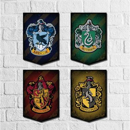 Harry Potter Banner printable. Harry Potter wall art, Hogwarts House Crest. Hogwarts Crest. Harry Potter Theme. Hogwarts Printable Banner thumb