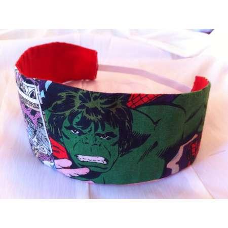 The Incredible Hulk Reversible Fabric Headband, Marvel, Avengers, Superhero, Comic Book thumb