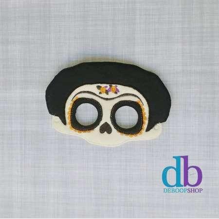 Frida Mask - Female Skeleton Mask - Coco Inspired Mask - Kid & Adult - Creative Play - Halloween Costume thumb
