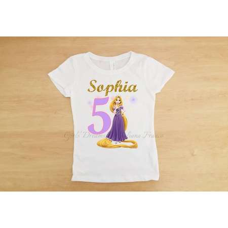 Tangled Birthday Outfit Rapunzel Tutu Personalized Shirt Girls