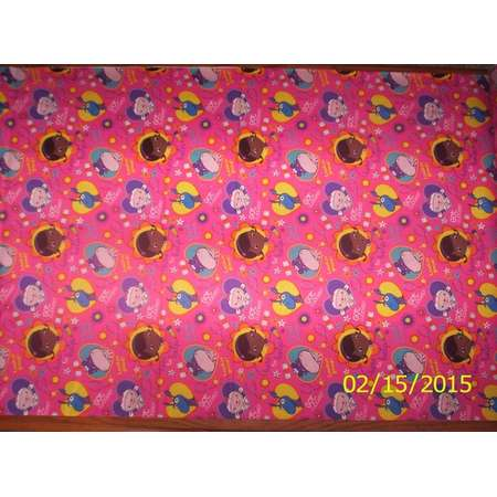 New Disney Doc McStuffins Big Book of Boo Boos Toss on Pink 100% cotton fabric by the yard and half yard thumb