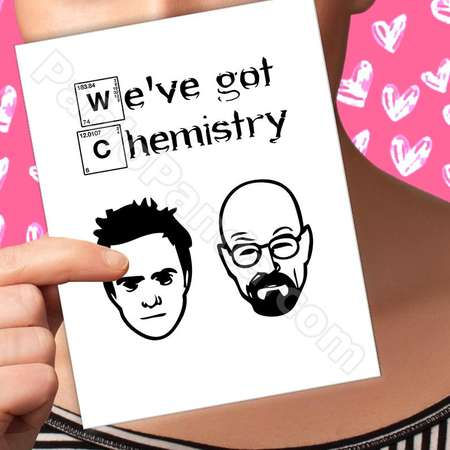 Funny Valentines Card Breaking Bad '(0.0)' Walter White Valentine Card '(0.0)' Jesse Pinkman Valentine Day Decor '(0.0)' thumb