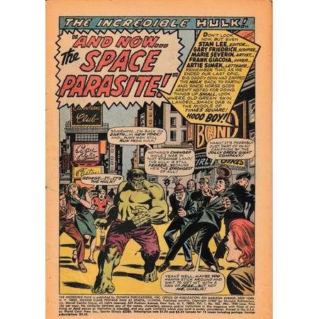 The Incredible Hulk Vol. 1 No. 103 - 1968 - Marvel Comics Comic Book thumb