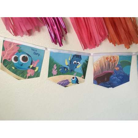 Finding Dory banner upcycled book thumb