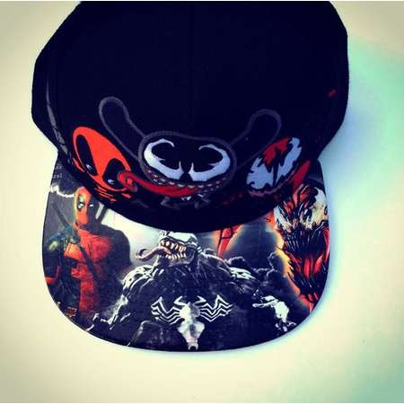 Deadpool, Carnage, and Venom Marvel Comics Snapback Cap  Juniors Embroidered and Adult Size Customized on the BillModified  thumb