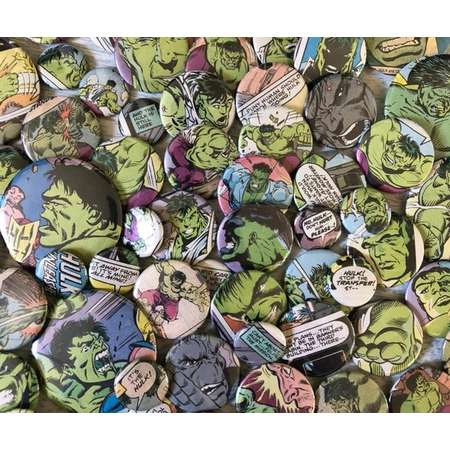 THE INCREDIBLE HULK, comic book pins, thumb