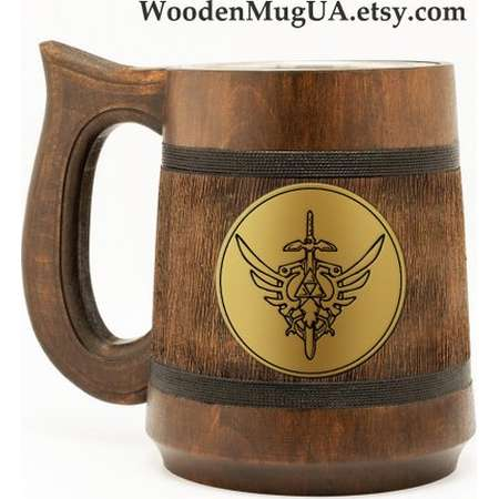 The Legend of Zelda Mug Zelda Gift Zelda Emblem Gamer mug Zelda Sword Zelda Triforce thumb