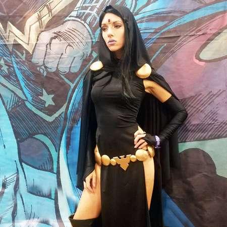 RAVEN COSPLAY Teen Titans Inspired Dc Comics Batman Sexy Costume Superhero Supervillain Custom Cape Geek thumb