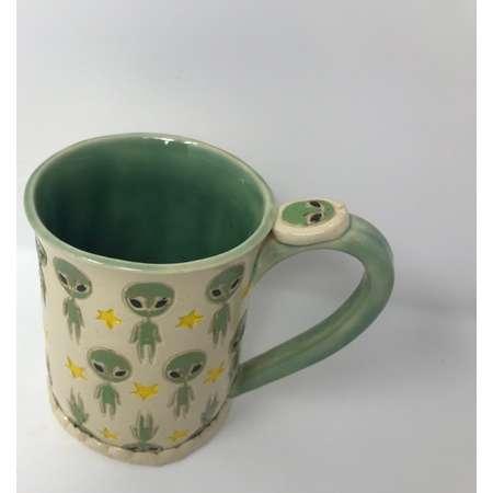 Handmade alien mug thumb