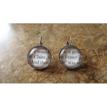 Outlander Claire Fraser book page earrings thumb