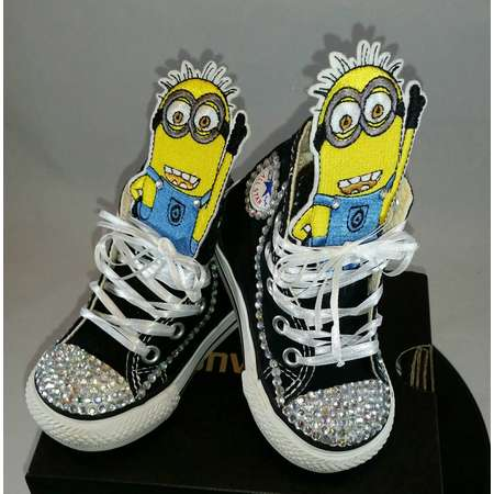 Girls Custom Converse- Kids Converse- Bling Converse- Minions Despicable Me Converse- Minnie Mouse- Paw Patrol- Shopkins- Doc Mcstuffins thumb
