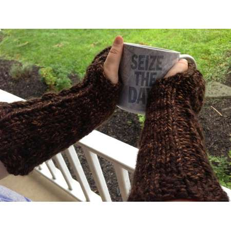 Ready to ship!! Outlander inspired brown cable fingerless gloves/gauntlets/mittens,  great for texting, soft, warm thumb