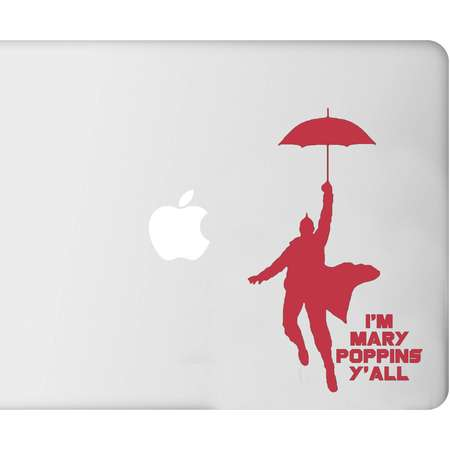 I'm Mary Poppins Y'all Guardians of the Galaxy Marvel- Decal - Car - Mac - Mug Free Shipping thumb