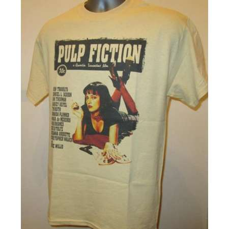 Pulp Fiction Printed Film Poster T Shirt - Cult 90s Crime Movie - New W497 Mens Womens Tee thumb